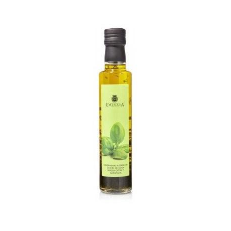 Aceite de Oliva Virgen Extra con Albahaca La Chinata en Botella de Cristal 250ml